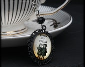 Trick or Treat Tea Ball Infuser | Black Halloween Cameo | Victorian Gothic | Vintage Goth | Steampunk | Tea Accessory for Loose Leaf Tea