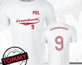 4714ae999 Lewandowski  9 T-Shirt Poland Fan Shirt