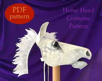 Horse Head Costume Mask Pattern