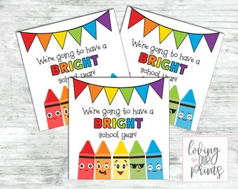 Back to School Treat Bag, Back to School Printable Tag, Student Gifts from Teacher, Printable Back to School Tags, First Day of School Treat