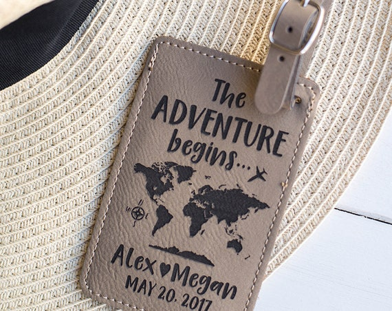 4deb96fff2b8b ... The Adventure Begins LUGGAGE TAG