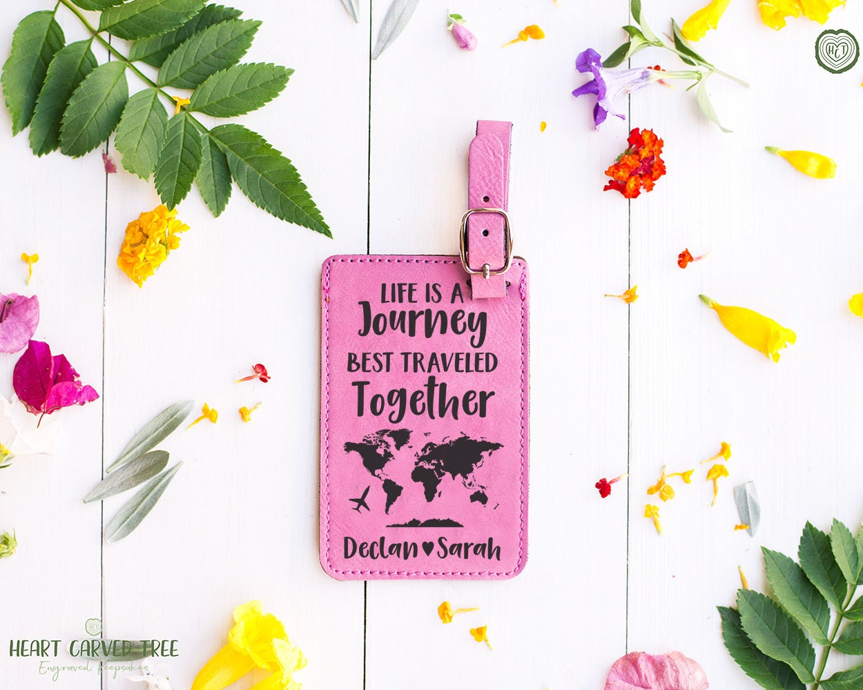 Life Is A Journey Luggage Tag Personalized Gifts Wedding Gift