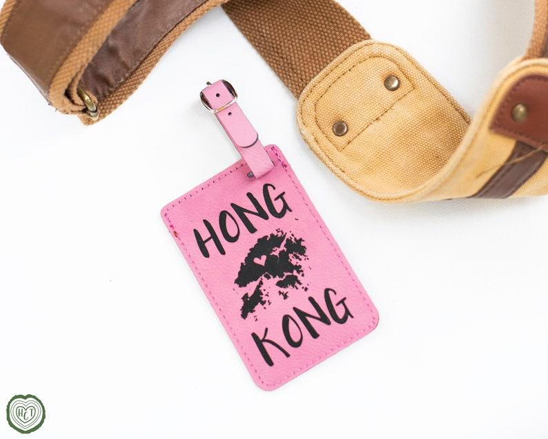 Hong Kong Luggage Tag, Travel Gift for HK Trip, Hong Kong Map, Asia Travel  and Tourism Gifts, China, Wanderlust Globe Travel World