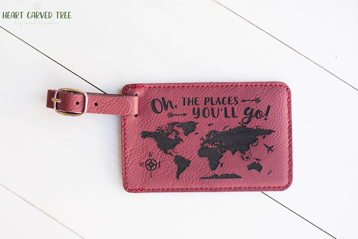 Oh the places youll go luggage tag world map travel accessories oh the places youll go luggage tag world map travel accessories cute gift idea foreign exhchange graduation gift study abroad lt5 gumiabroncs Images