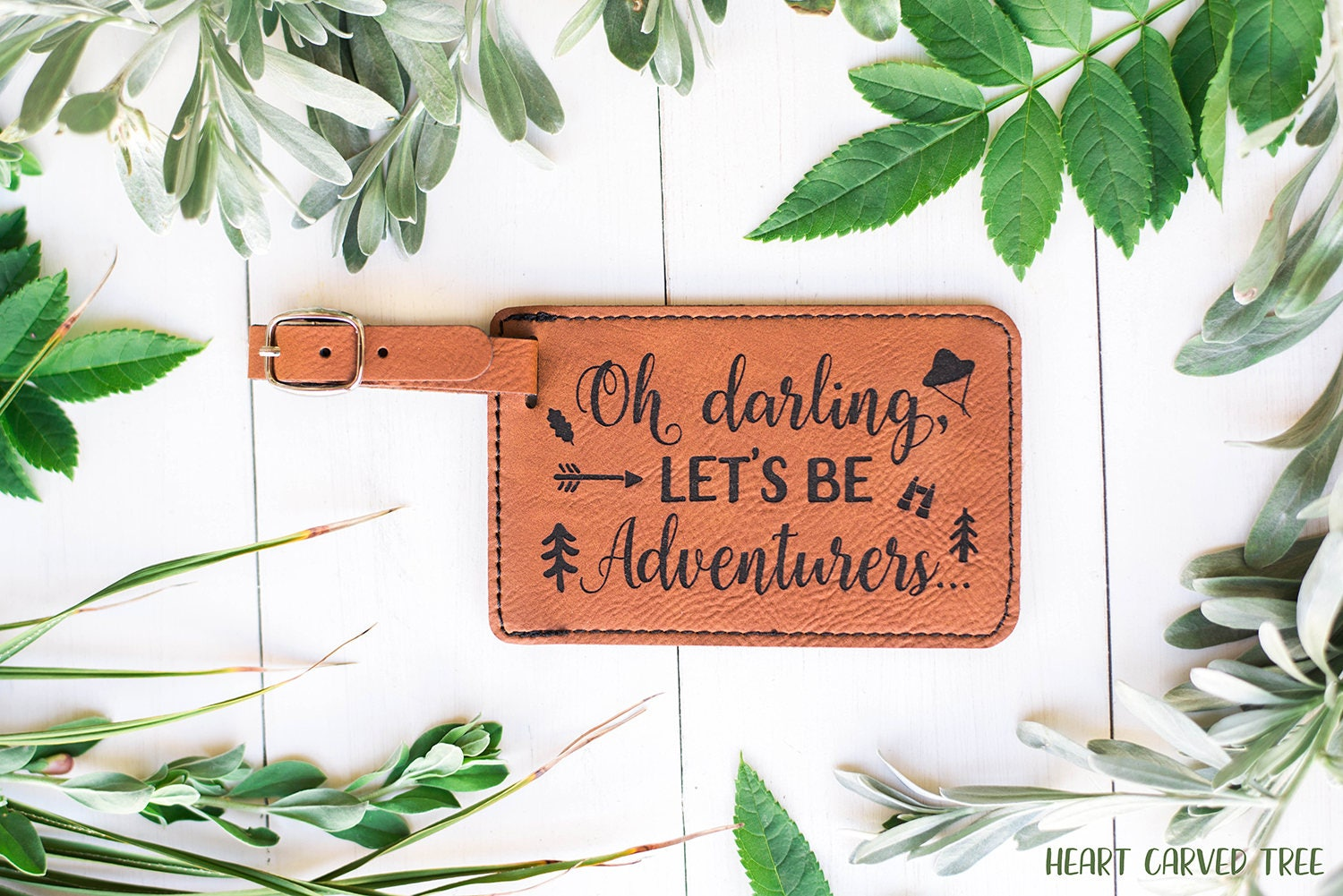 Travel Gift Luggage Tag Oh Darling Lets Be Adventurers Quote