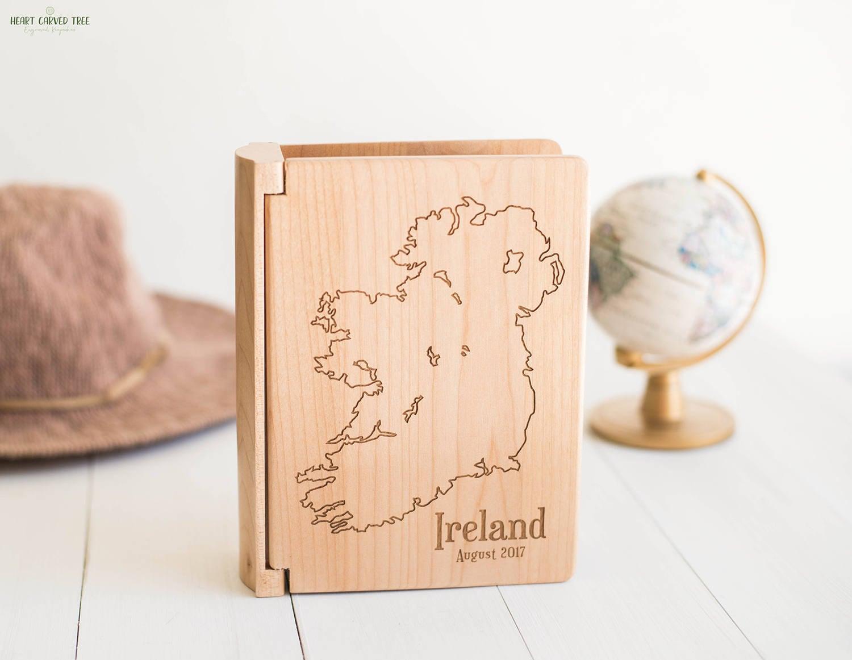 Map Of Ireland Book.Ireland Travel Photo Album Map Of Ireland Travel Photo Book Wood