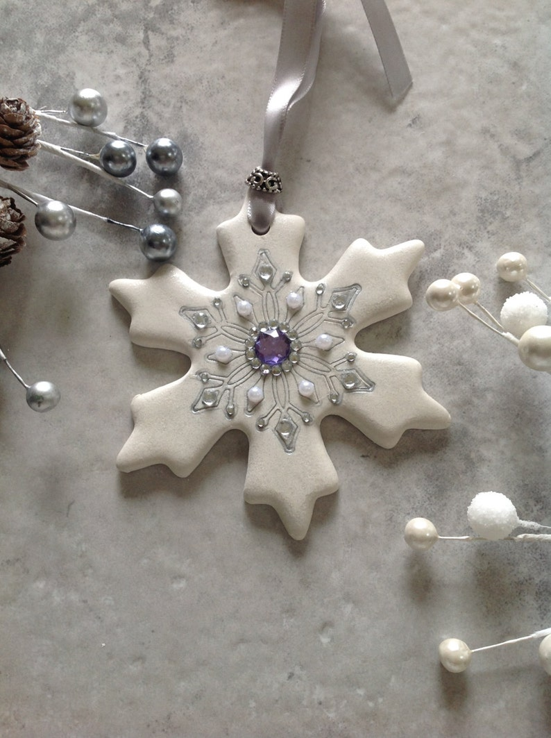 Bling Snowflake Handmade Ornament