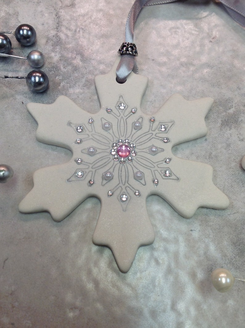 Polymer Clay Snowflake Ornament