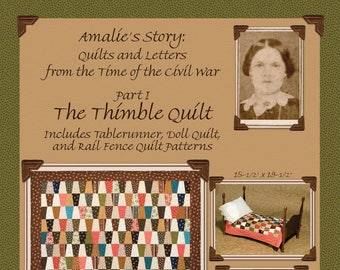 Darlene Zimmerman set of FIVE patterns--  Amalie's Story: Quilts and Letters from the Time of the Civil War