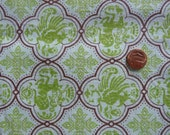 Vintage Feedsack, Lime Green with Dragons and Deer Oriental design, full size, mint condition