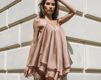 87cd2cc181 Sexy Summer Dress, Blush Dress, Lolita Dress, Open Back Dress, Sexy Short  Dress, Women Loose Dress, Beach Cover Up, Plus Size Beach Dress
