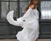 Summer Maxi Dress, Plus Size Maxi Dress, Kimono Dress, Plus Size White Dress, White Summer Dress, Plus Size Dress, Beach Dress, Kaftan Dress