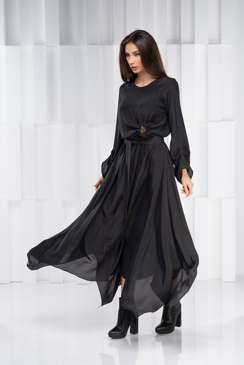 1523f3859ba Black Maxi Dress Plus Size Maxi Dress Long Dress Dress for