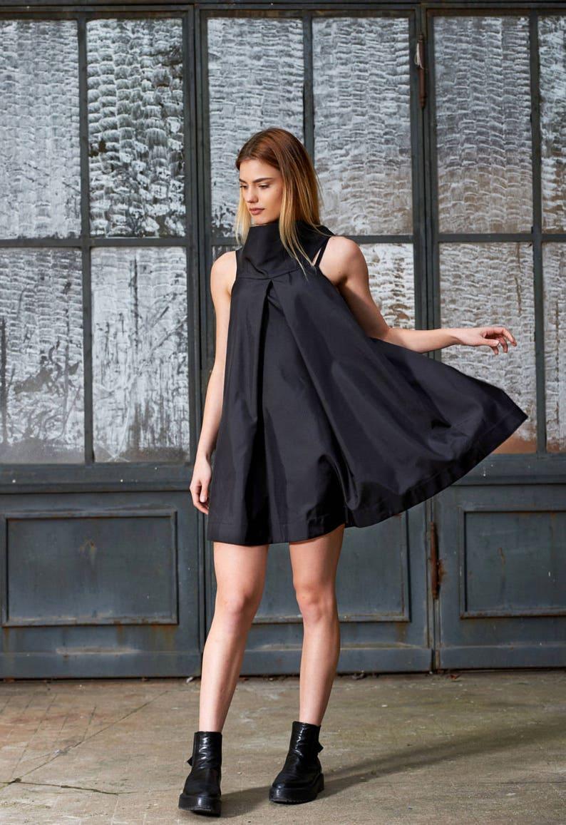 b7db6f65c85 Black Cocktail Dress Black Tunic Dress Summer Tunic Little