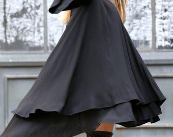 Plus Size Dress, Women Dress, Midi Dress, Black Dress, Loose Dress, Long Sleeve Dress, Plus Size Tunic, Women Black Dress, Batwing Dress