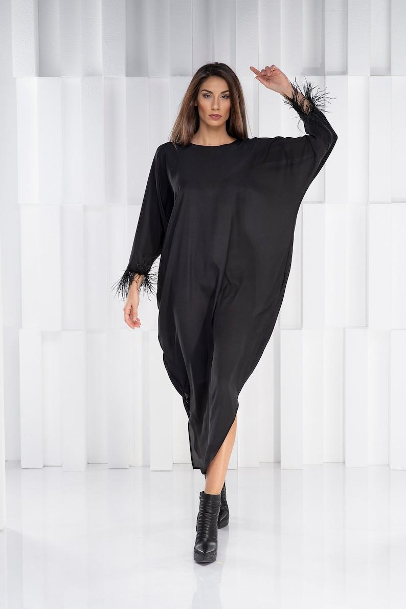 Women Maxi Dress, Plus Size Caftan, Silk Kimono Dress, Batwing Dress, Plus  Size Maxi Dress, Gothic Clothing, Plus Size Clothing Robe Dress