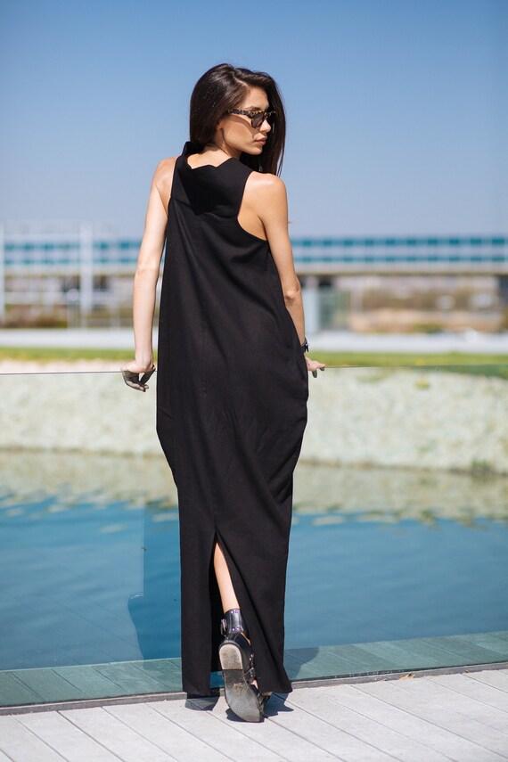 Clothing Linen Dress Dress Black Long Dress Dress Linen Plus Dress Black Size Maxi Linen Linen Gothic Summer Dress Maxi Clothing PwHOPd