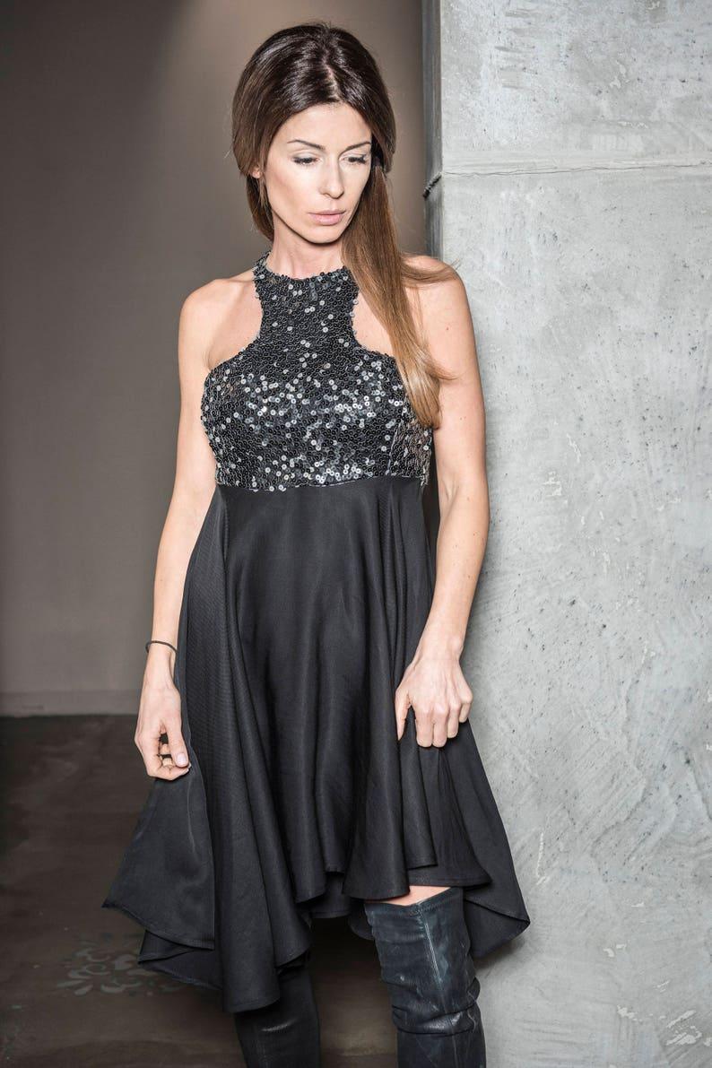 7323f646 Plus Size Black Sequin Evening Dresses - raveitsafe