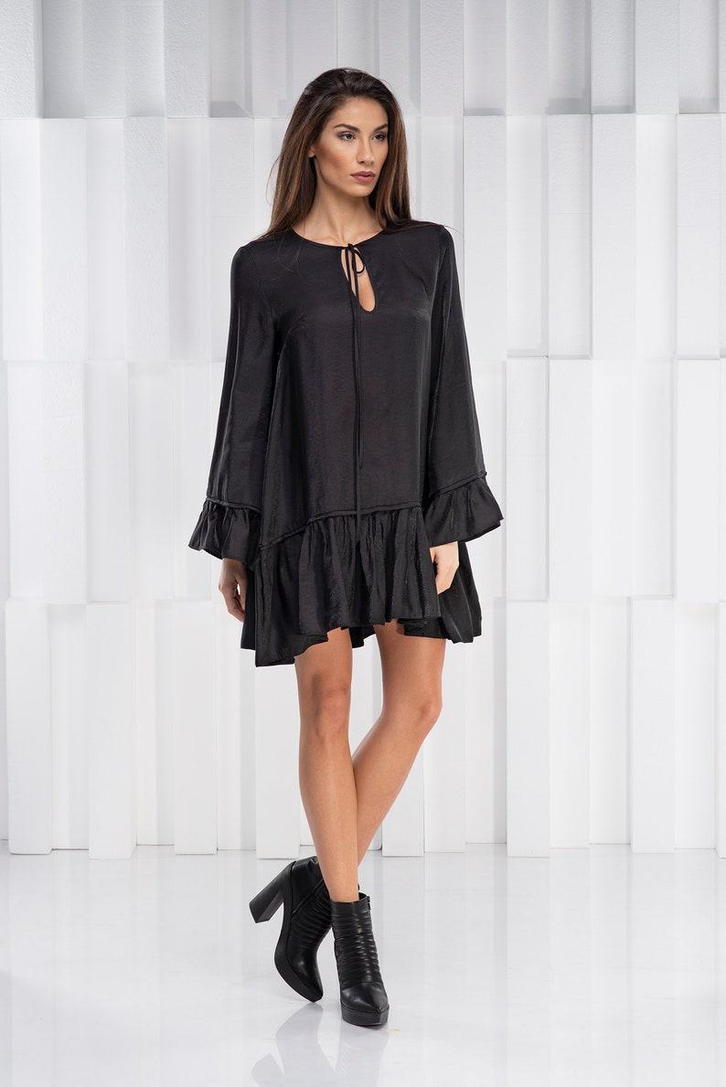 Black Dress Women Dress Plus Size Dress Gothic Dress Long Etsy