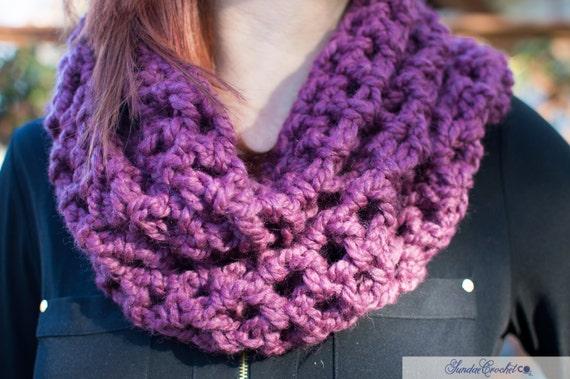 Orchid Sundae Cowl Scarf | Purple Cowl Scarf | Cowl Scarf | Crochet Scarf