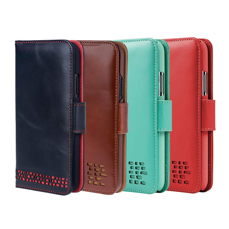 quality design 387da afdd6 iPhone XS Max Wallet Case - Luxury Real Leather - Folio - Card Holder -  Ecofriendly Packaging - Avoid Card Corruption - British Design