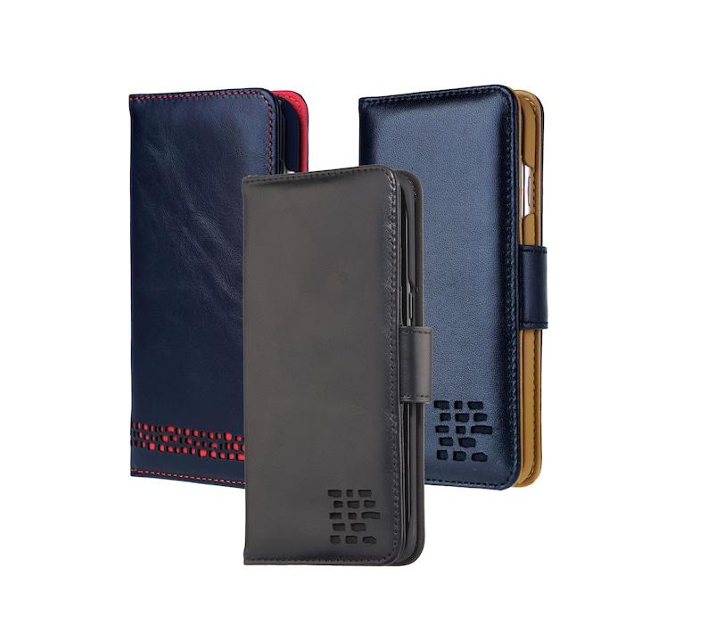 4f5144dc816f4 Black iPhone 6 6S Wallet Case Elegant Genuine Leather Card