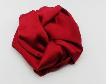 Red Silk Charmeuse Fabric - 2.5 yards