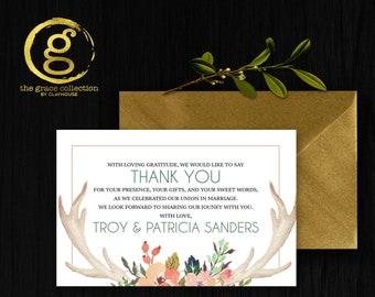 Thank You Card : Flower Horns