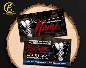 Barber Business Card Etsy