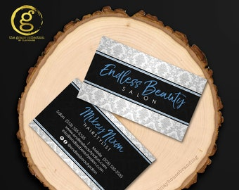 Business Card : Beautiful Damask