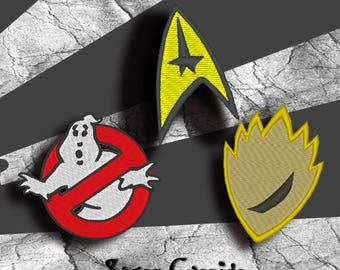 Cosplay Patches Various Styles- Ghost Busters, Star Trek ETC