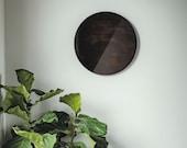 "Totem- ""Stacatto""-Gray/Smoke, Boho Mirror, Tinted Mirror, Modern Mirror, Circle Mirror, Gray Smoke Mirror"