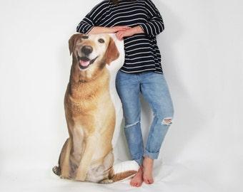Pet photo pillow - 5 foot high! Larger than life size - Pet portrait pillow - Custom pet pillow - Personalized pet pillow - Pet lover gift