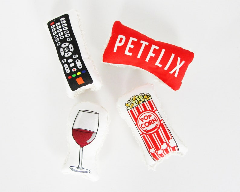 Petflix & chill dog toys Set of 4 dog toys Petflix image 0