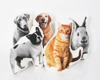 Custom pet pillow - 16'' large size - Custom pet photo pillow - Personalized pet pillow - Custom portrait pillow - Personalized pet portrait