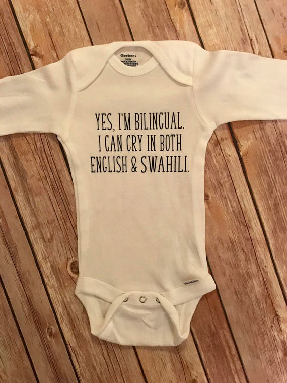 I'm Bilingual I Cry in Both English and Spanish baby bodysuit boys grow vest