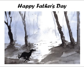 Fathers Day Card Greyhound Whippet Lurcher Italian Gift Gifts CUSTOM TEXT