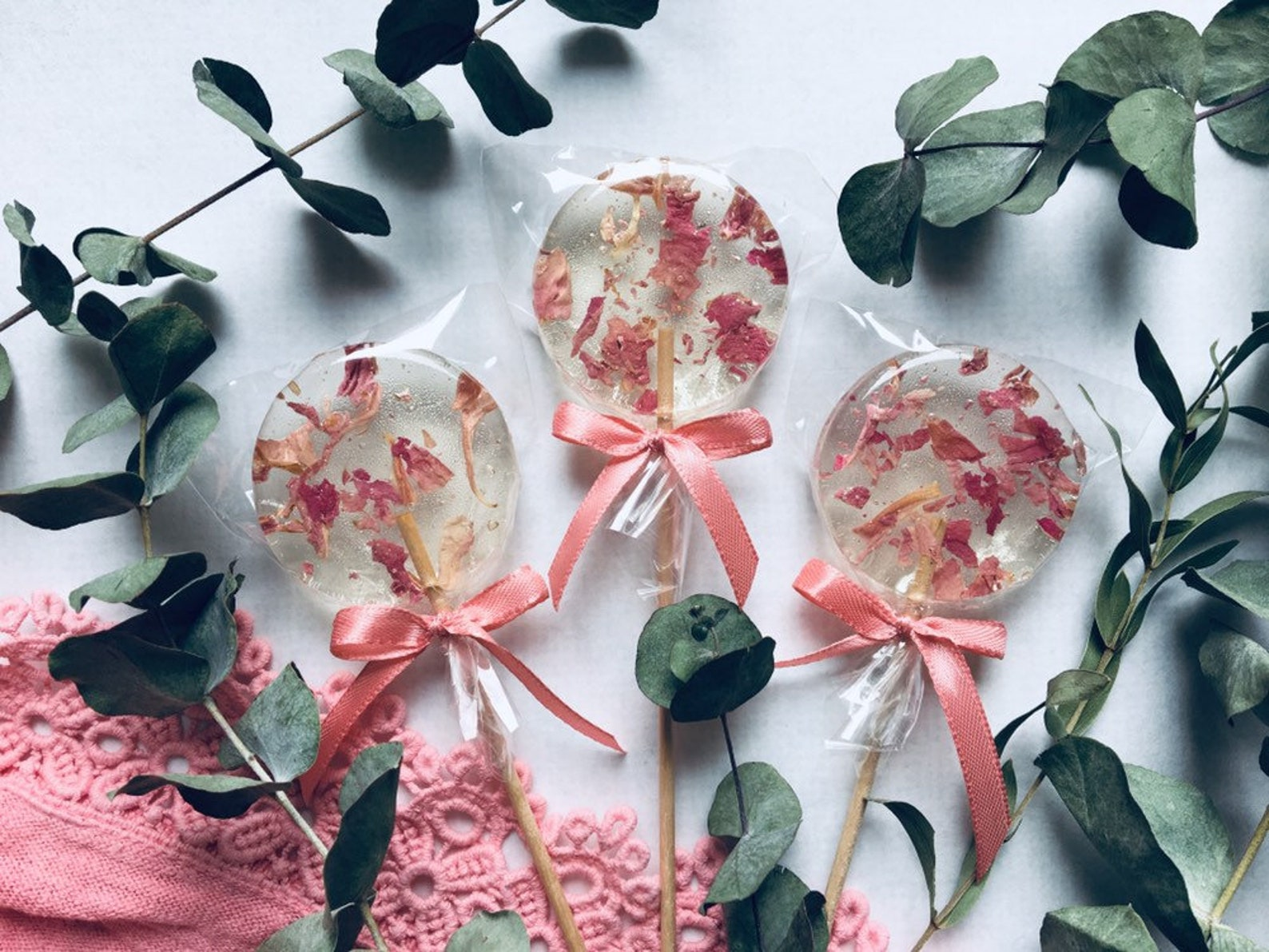 Blüten Lutscher Hochzeit Gastgeschenk