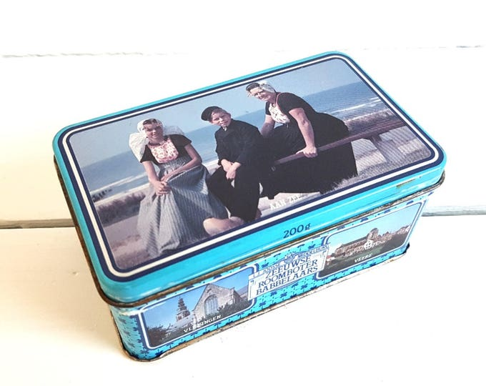 Vintage typical Dutch candy tin 'Boter Babbelaars'