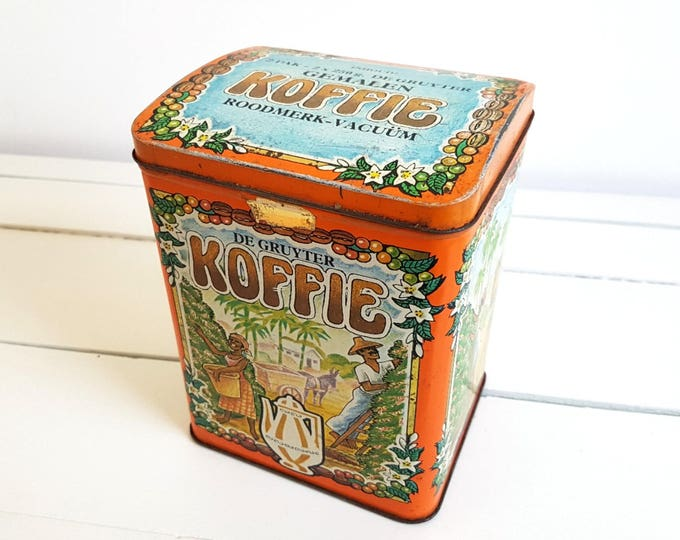 Unique old Dutch coffee tin