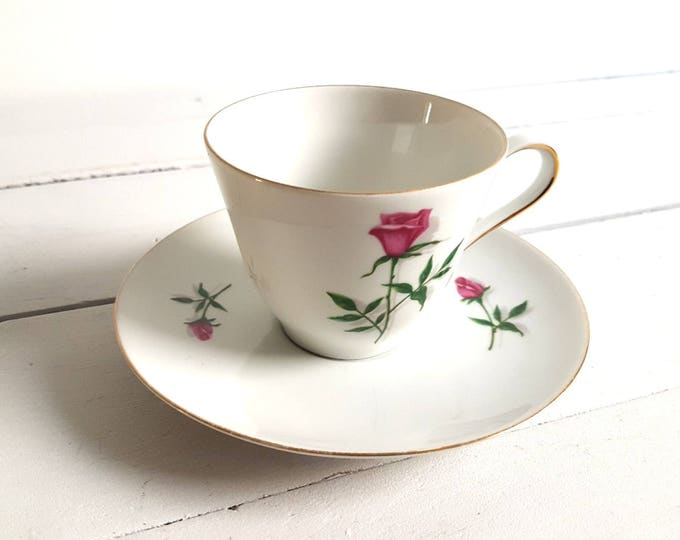 Sweet vintage cup and saucer 'Rose'