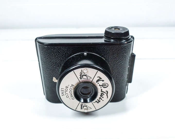 Vintage bakelite pocket camera VP Twin by Woolworths • E.Elliott camera • old display camera • decorative home accent • vintage props
