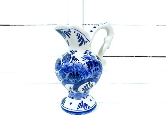 Original Delft blue little pitcher handmade • Delfts decorative vase • Delftware white blue deco • Delftware pottery • decorative jug #103