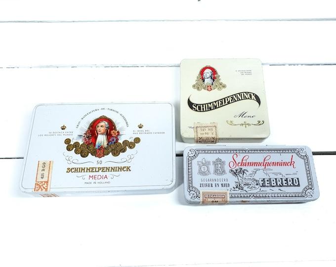 Vintage cigar tin Schimmelpenninck Holland • old cigar cans • tobacco collectors item • old tobacco tins • old tins • tobacconalia