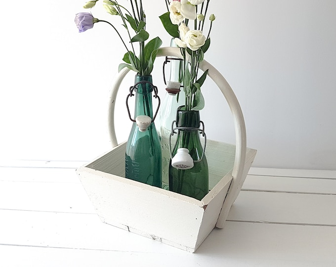 Old French wood flower basket