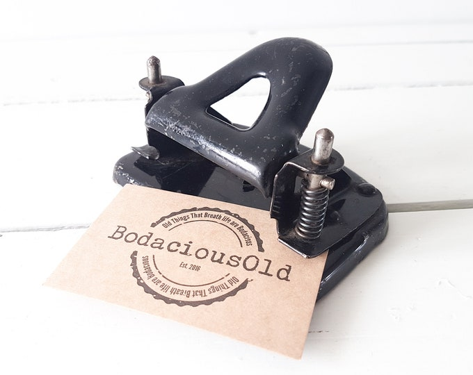 Vintage hole puncher * industrial office decor * vintage office equipment * paper punch * office supply