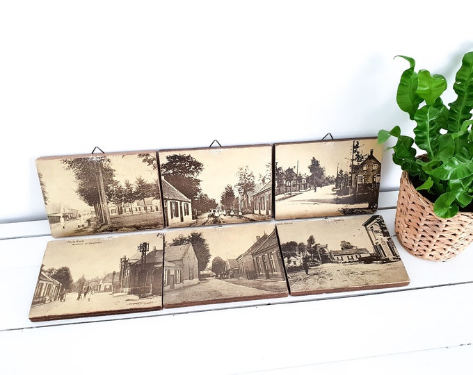 Unique old barn photos • old wall decoration • sepia photos • old village views • Dutch gift