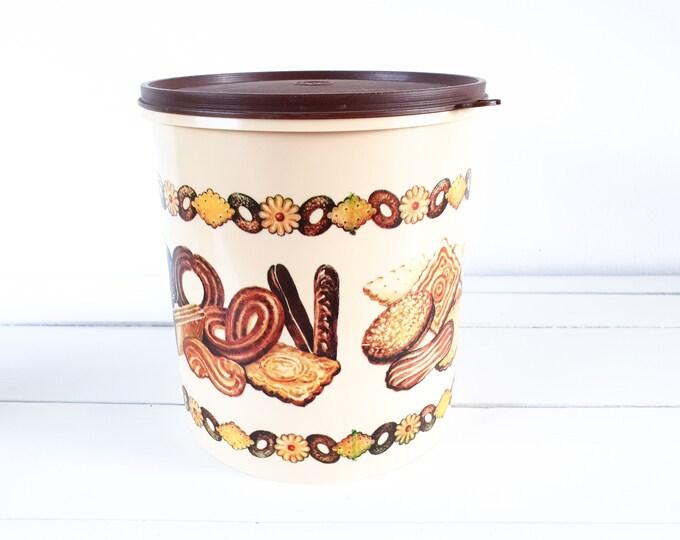 Retro cookie jar • retro home accessories • vintage canister • vintage drum 4L • cookie storage • vintage kitchen storage