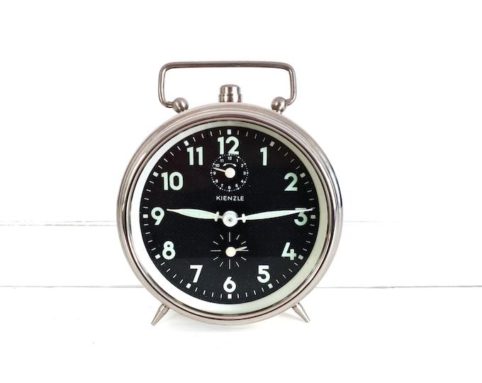 Vintage alarm clock Kienzle chroom • windup alarm clocks • German Kienzle clock • desk clock • vintage bedroom decor • collectors clock