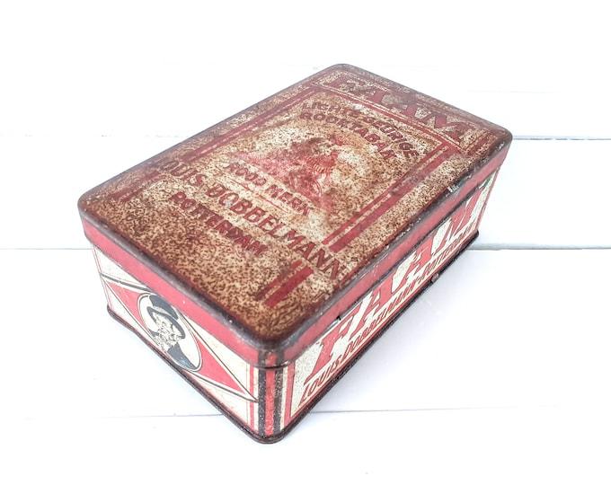 Antique tobacco tin FAAM Louis Dobbelman Rotterdam (1920-1925) • tobacco collector's item • tobacco box • old tobacco tins